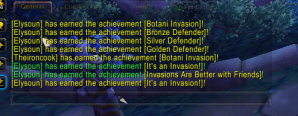 6 achievements at once related to garrison invasions.