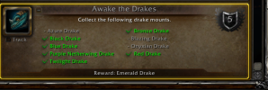I'm missing the Azure, Blazing and Onyxian drakes for the achievement.